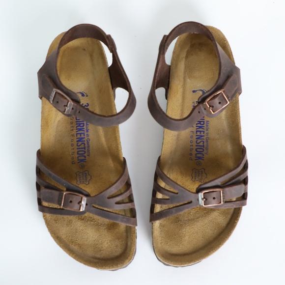 94a7318a6c2 Birkenstock Shoes - NEW Birkenstock Brown Bali Ankle-Strap Sandals 7.5